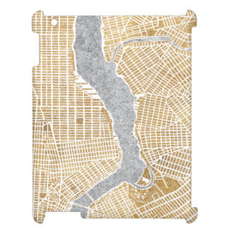 Gilded City Map Of New York iPad Cover
