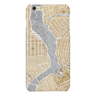 Gilded City Map Of New York iPhone 6 Plus Case