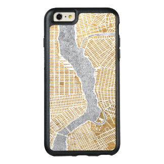 Gilded City Map Of New York OtterBox iPhone 6/6s Plus Case