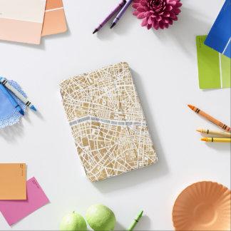 Gilded City Map Of Paris iPad Mini Cover