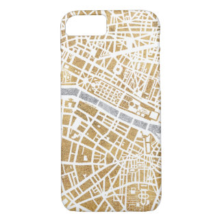 Gilded City Map Of Paris iPhone 8/7 Case
