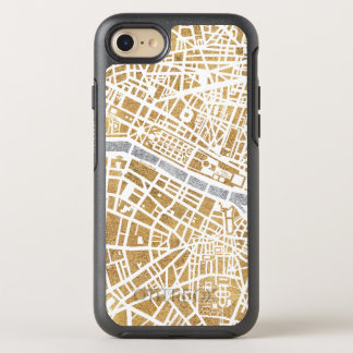 Gilded City Map Of Paris OtterBox Symmetry iPhone 8/7 Case