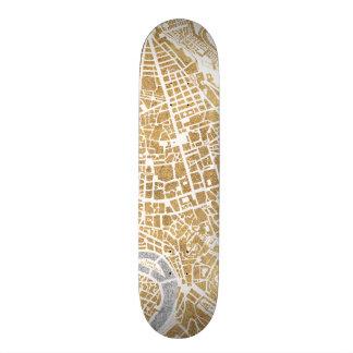 Gilded City Map Of Rome 19.7 Cm Skateboard Deck