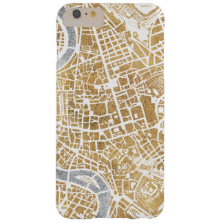 Gilded City Map Of Rome Barely There iPhone 6 Plus Case
