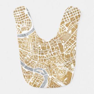Gilded City Map Of Rome Bib