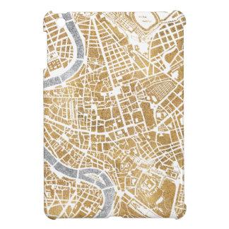 Gilded City Map Of Rome iPad Mini Cover