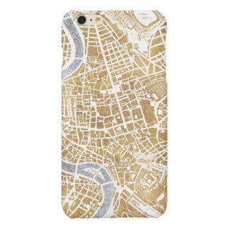 Gilded City Map Of Rome iPhone 6 Plus Case