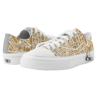 Gilded City Map Of Rome Low Tops