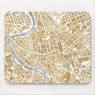 Gilded City Map Of Rome Mouse Mat