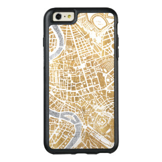 Gilded City Map Of Rome OtterBox iPhone 6/6s Plus Case