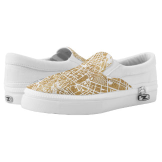 Gilded City Map Of Rome Slip-On Shoes