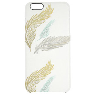 Gilded Feathers Clear iPhone 6 Plus Case