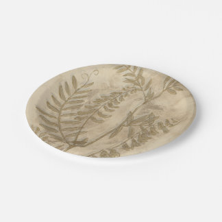 Gilded Foliage I 7 Inch Paper Plate