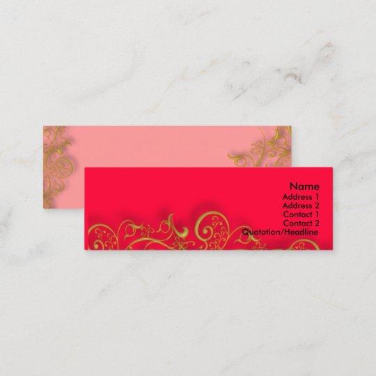 Gilded gold swirls diy background colour mini business card zazzle gilded gold swirls diy background colour mini business card reheart Images