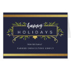 Gilded Holiday Corporate Card