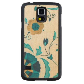 Gilded Indigo Flowers with White Background Maple Galaxy S5 Slim Case
