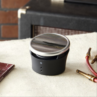 Gilded Morning Fog II Gold Abstract Print Bluetooth Speaker