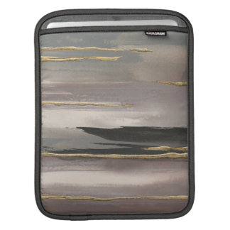 Gilded Morning Fog II Gold Abstract Print iPad Sleeve