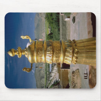 Gilded roof detail Tibet China Mouse Pads