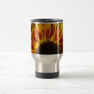 Gilded Rosy Sunflower 15 Oz Stainless Steel Travel Mug