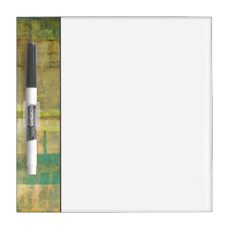 Gilded Turquoise and Green Abstract Painting Dry Erase Board