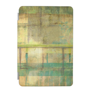 Gilded Turquoise and Green Abstract Painting iPad Mini Cover