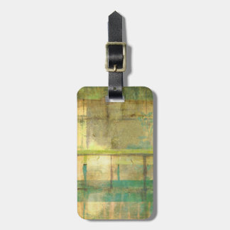 Gilded Turquoise and Green Abstract Painting Luggage Tag