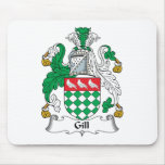 Gill Family Crest Mouse Pad