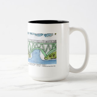 Gill-Montague Bridge painting mug