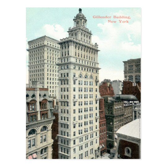 Gillender Skyscraper, New York City c1905 Vintage Postcard