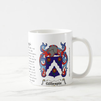 Gillespie, the origin, meaning and the crest coffee mug