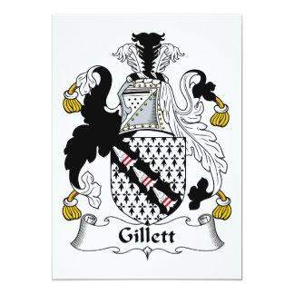 Gillett Family Crest 13 Cm X 18 Cm Invitation Card