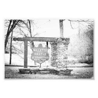 Gillette Castle State Park Sign Photographic Print