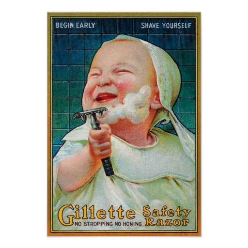 Gillette Safety Razor - Begin Early Shave Print