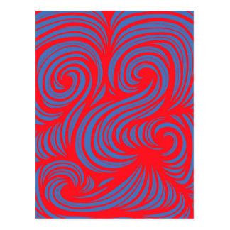 Gillilan Abstract Expression Red Blue Postcard