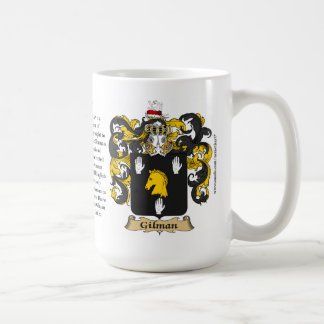 Gilman, the Origin, the Meaning and the Crest Basic White Mug