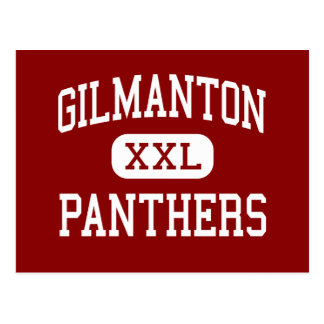 Gilmanton - Panthers - High - Gilmanton Wisconsin Postcard