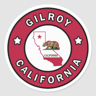 Gilroy California Round Sticker