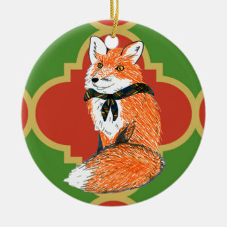 Gilwell Fox Quatrefoil Ornament