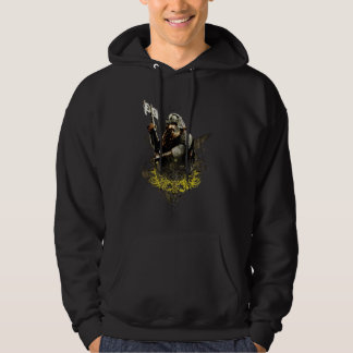 Gimli With Ax Vector Collage Hoodie