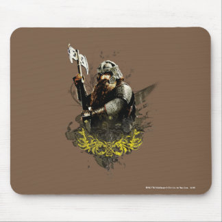 Gimli With Ax Vector Collage Mouse Mat