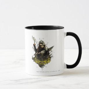 Gimli With Axe Vector Collage Mug