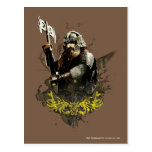 Gimli With Axe Vector Collage Post Card