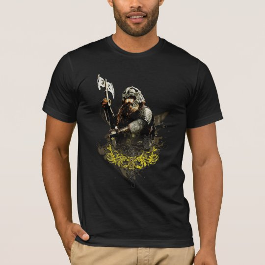 Gimli With Axe Vector Collage T-Shirt
