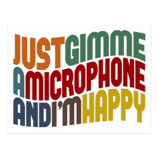 Gimme A Microphone Postcard