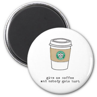 gimme coffee fridge magnet