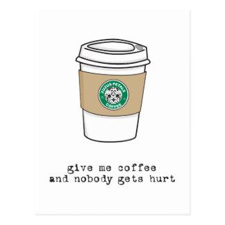 gimme coffee postcard