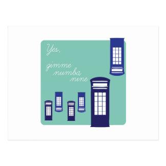Gimme Number Nine Postcard