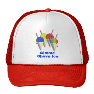 Gimme Shave Ice Hawaiian Shaved Ice Truckers hat