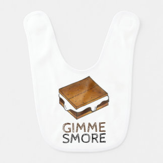 Gimme Smore Chocolate S'mores Camping Camp Bib